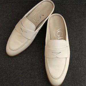 Attilio Giusti Leombruni White Loafer Slides